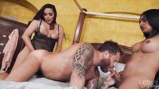 Zoey Foxx Tricking Her BF Riley Mitchel To Get Banged By Eva
